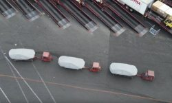 Drone photographed by mysterious Tesla at US factory