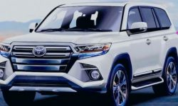 First photo: the body and chassis of the new Land Cruiser 300