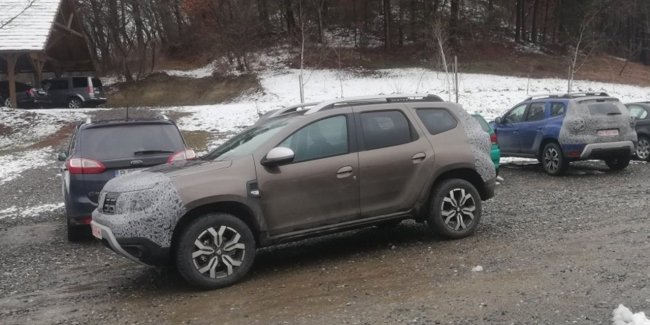 In one of the parking lots noticed the updated Duster