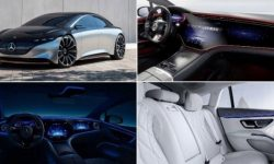 56-inch Mercedes E'S: Germans showed the interior of the new flagship