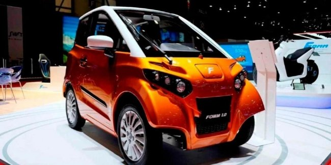 Japanese electric car for car sharing for 25 thousand dollars can swim
