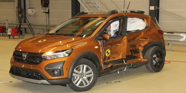 Video from the failed crash test of the new Logan and Sandero Stepway