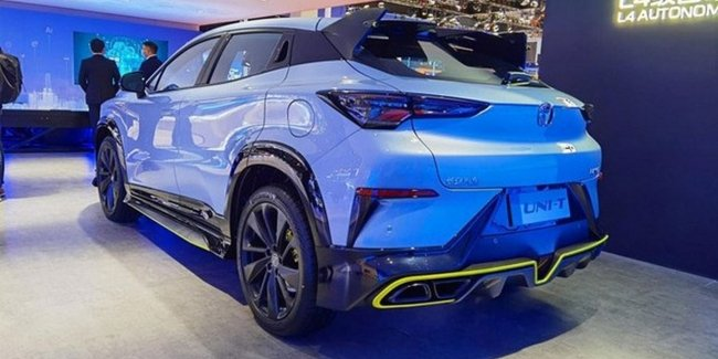 The new Changan UNI-T crossover was unveiled in Shanghai