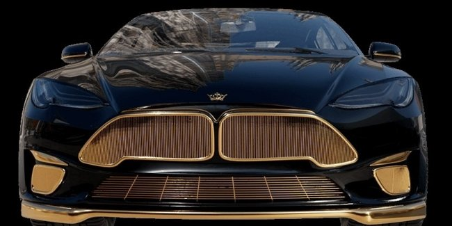 Tesla Model S with gilding: is someone buying this?