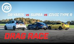 DRAG RACE: Toyota GR Yaris vs Toyota Supra vs Honda Civic Type R