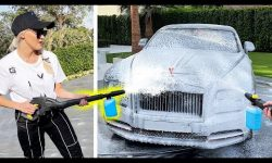 Blasting Rolls Royce With A Foam Cannon!