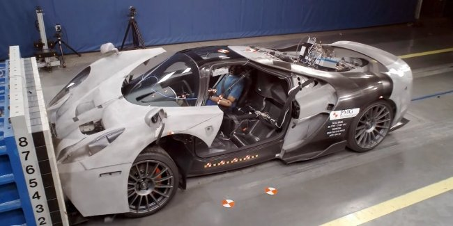 How the $460,000 supercar was smashed (video)