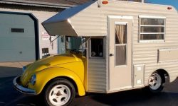 Funny camper made on the basis of VW Beetle