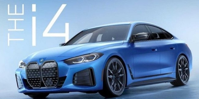 """First photo of BMW's """"charged"""" electric sedan"""