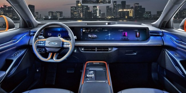 Ford-based Ford electric crossover will get a very wide screen