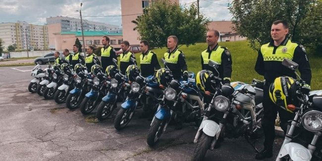 In Odessa launched motorcycle patrols police