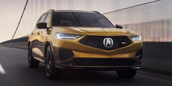 Unusual debut: Acura MDX Type S 'charged' crossover unveiled at races
