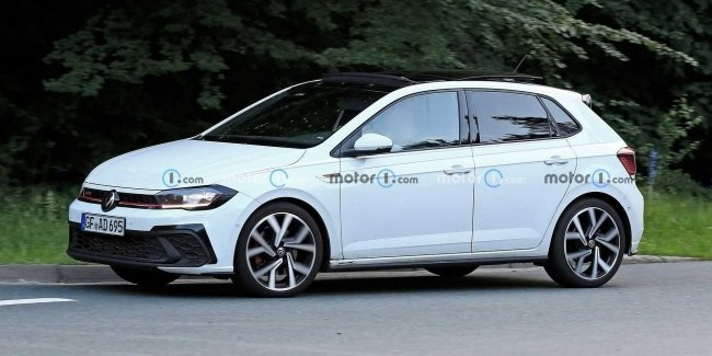 New Polo GTI spotted on tests