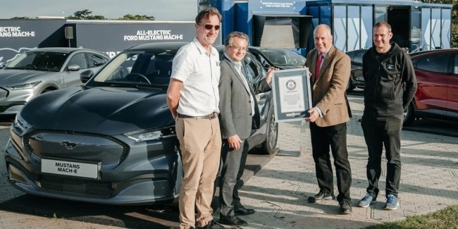 Electric Mustang Mach-E got into the Guinness Book of Records