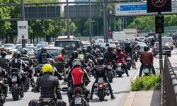 German motorcyclists protest against speed limits and bans