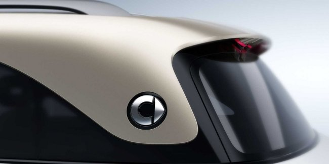 The first official teaser of the first SUV from smart