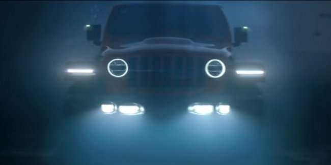Electric Wrangler lit up on video