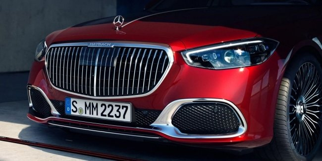 Maybach EV: first official image