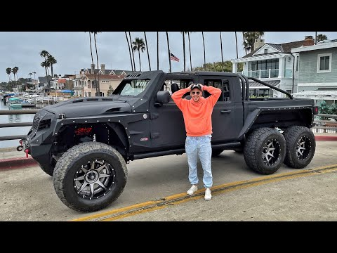 Converted Monster 6×6 Jeep Gladiator!