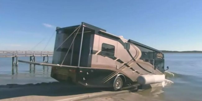 No more yacht needed? There was a floating house on wheels