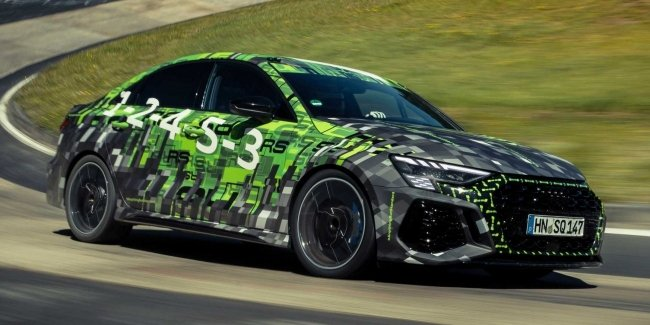 The new Audi RS 3 became the record holder of the Nürburgring