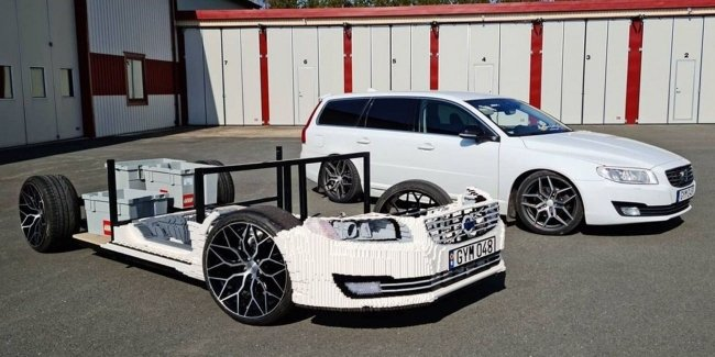 Video: how to build a full-size Volvo V70 from the Lego constructor