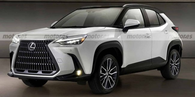 The first image of the new Lexus crossover