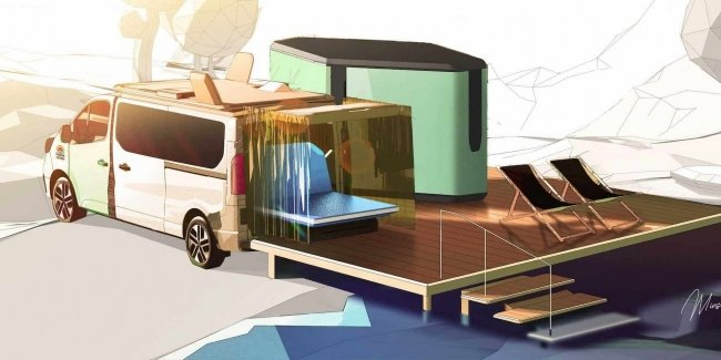 Renault showed a 5-star hotel on wheels