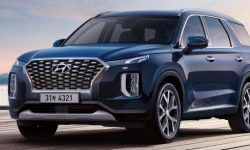 Presented render images of the updated crossover Hyundai Palisade