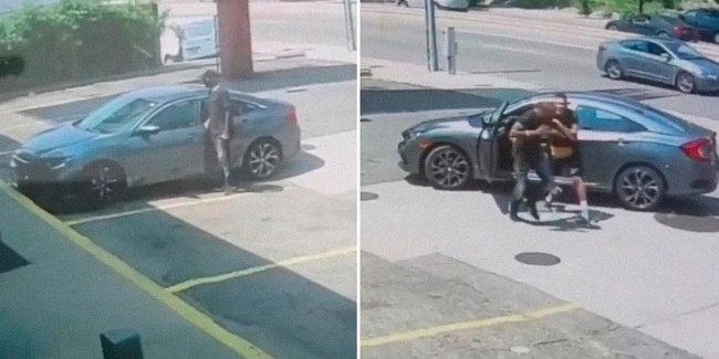 Video: MMA fighter clumped a thief trying to steal his car