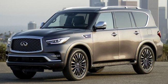 Infiniti QX80 updated and received a large screen multimedia system