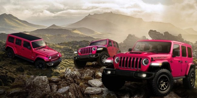"""Pink """"Jeep"""", which can be brutal"""
