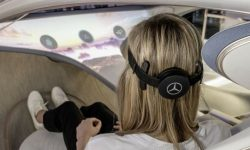 Mercedes showed how to control the power of thought