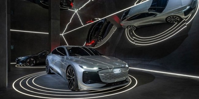 Audi announced the debut of the Audi A6 e-tron concept at Milan Design Week