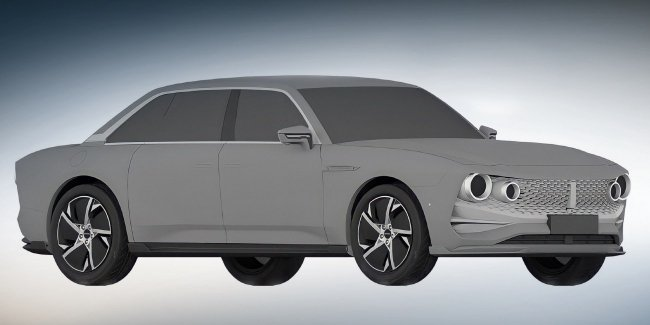 The first sedan brand Wey seen on patent drawings