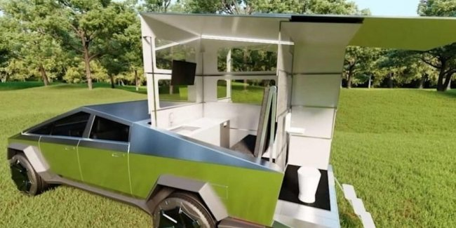Compact residential module for Tesla Cybertruck (video)