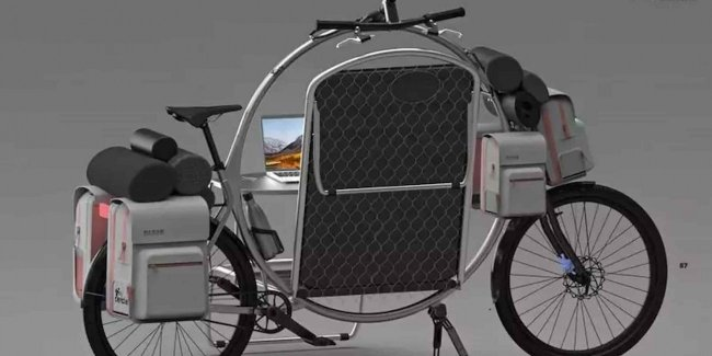 Living in a bicycle: eco-alternative to a car cooker