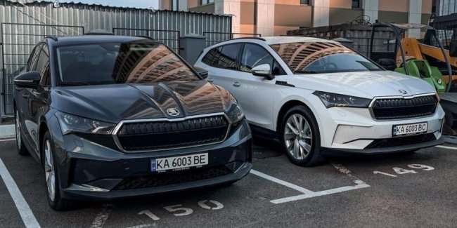In Kiev noticed the first electric crossover Skoda