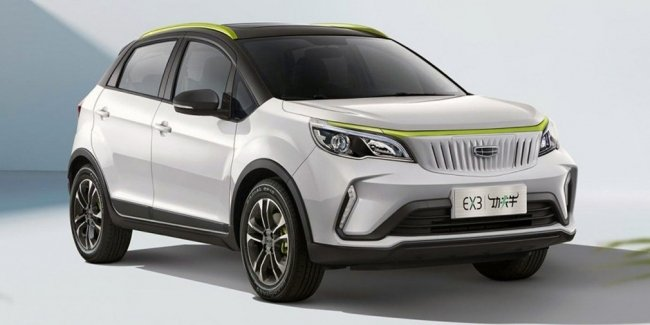 Geely introduced a new electric crossover Geometry EX3
