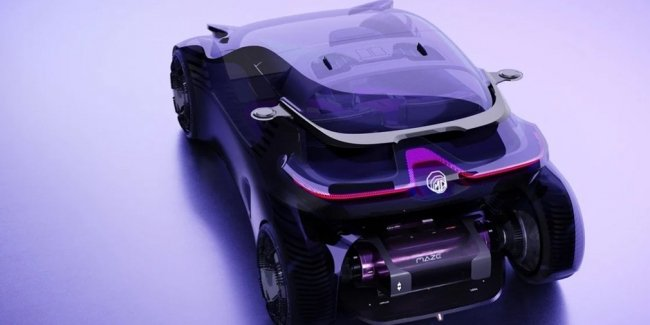 """How do you like the future? In China, created a concept car with a """"floating in the air"""" screen"""