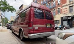 Vans parked on the streets of New York city were used as accommodation for rent on Airbnb