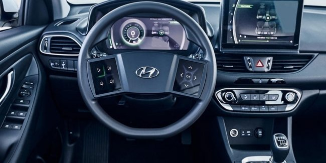 Hyundai patented the steering wheel with a screen
