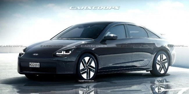 Serial electric car Ioniq 6 was shown on the first renders