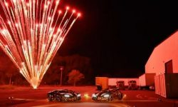 The first Bugatti Chiron Super Sport 300+ met with fireworks