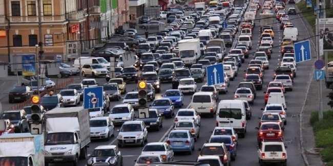In Kiev counted the number of cars