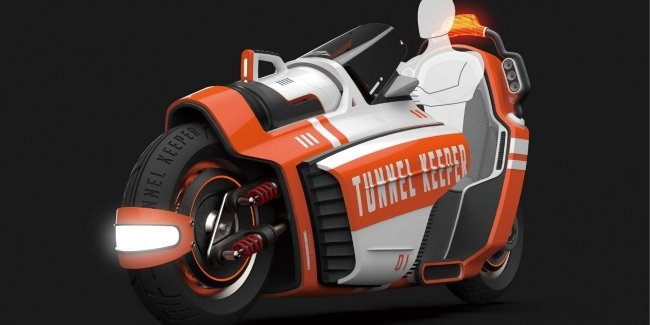 Tunnel Keeper – fire motorcycle