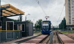 Tram will push cars from the center of Kiev