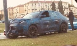The prototype of the new Maserati crossover was in a serious accident during testing